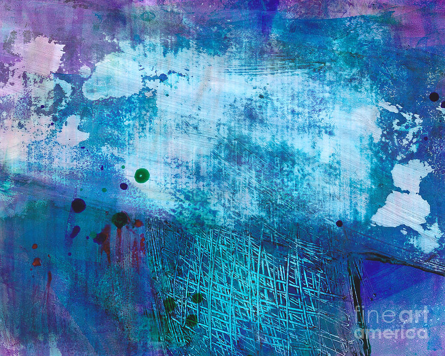 Painting Painting - Its Written In The Sky by Louise Lamirande