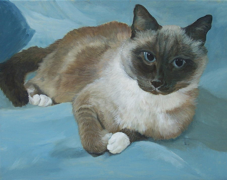 Cat Painting - Itty Bitty Kitty by Audrie Sumner