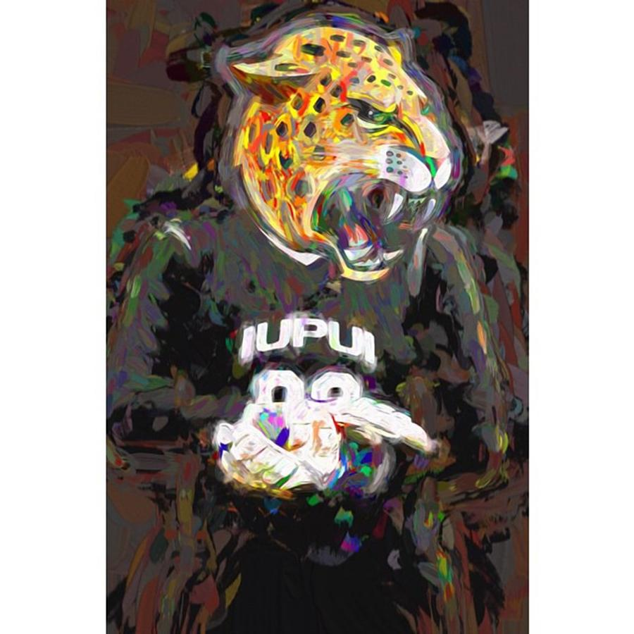Adobe Photograph - @iupui #iupuijaguars #iupui #jaguars by David Haskett II