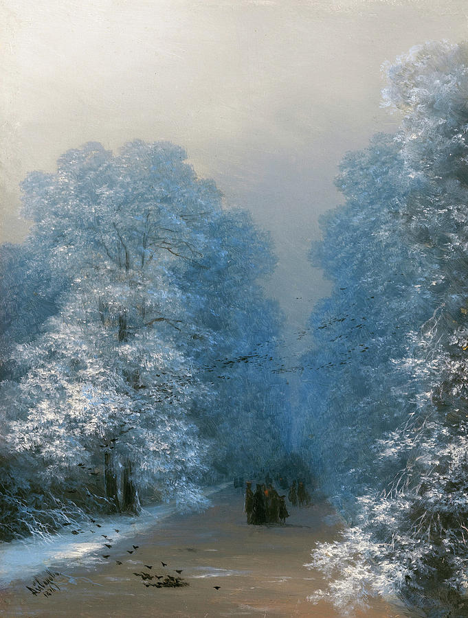 ivan aivazovsky winter landscape 1876 painting by movie