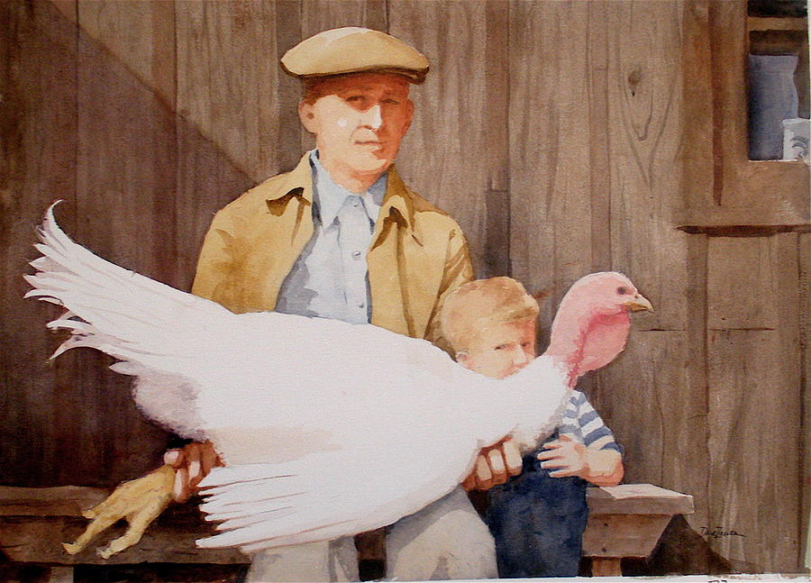 Farmer Painting - Ivan And Two Toms by Faye Ziegler