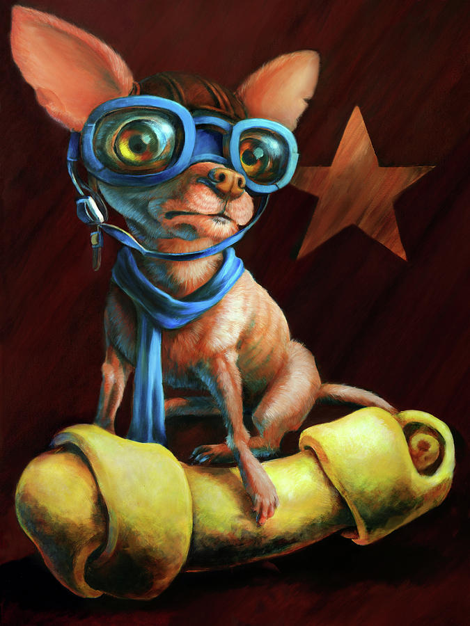 Chihuahua Painting - Ive Got Mine by Vanessa Bates
