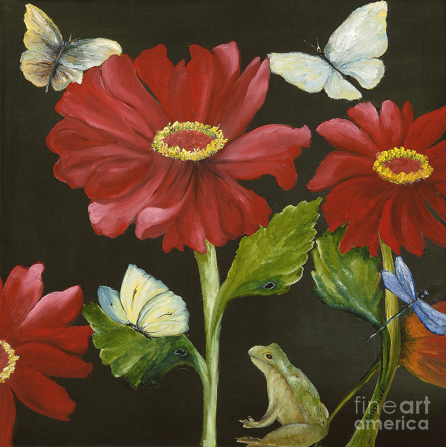 Frog Painting - Ive Got My Eye On You by Carol Sweetwood