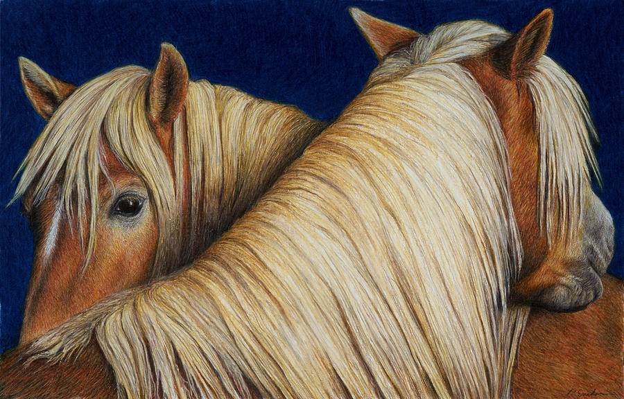 Equine Painting - Ive Got Your Back by Pat Erickson