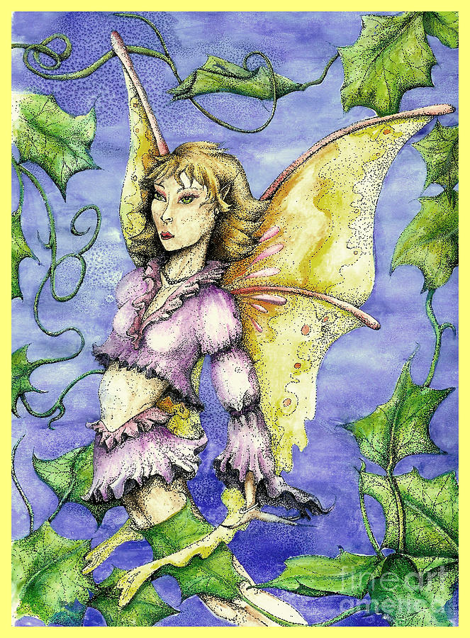 Fairy Drawing - Ivy Fairy by Dianna West