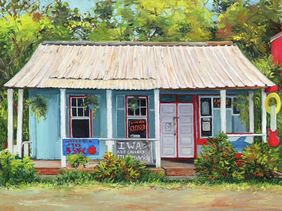 Old Buildings Painting - Iwa Gallery by Stacy Vosberg