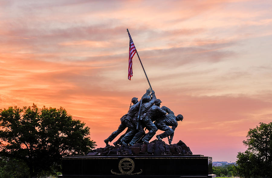 Iwo Jima Memorial Sunrise by Michael Donahue