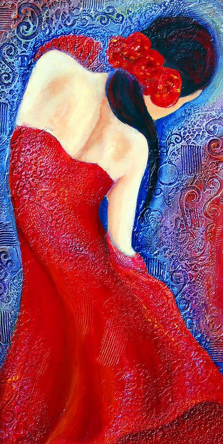 Dancer Painting - Iza by Claudia Fuenzalida Johns