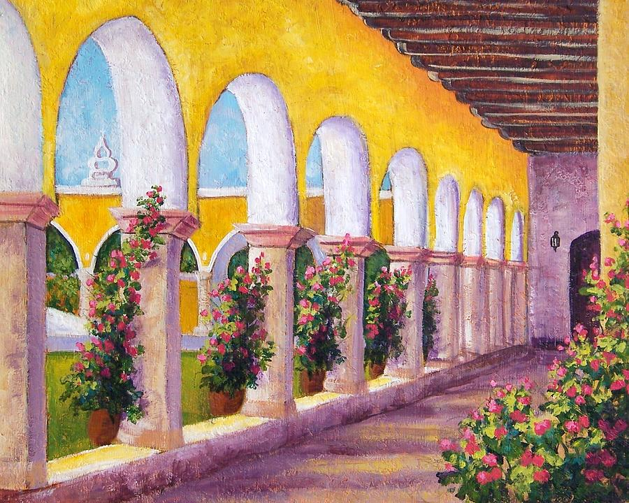 Landscape Painting - Izamal Arches by Candy Mayer