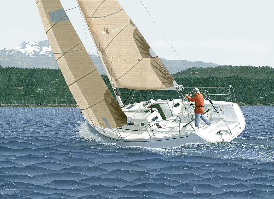 J-109 sailboat sail boat sailing 109 by Gary Giacomelli