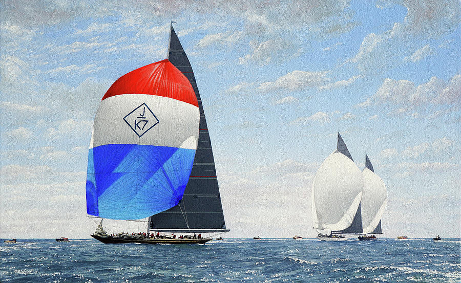 Flying the Spinnakers by Mark Woollacott