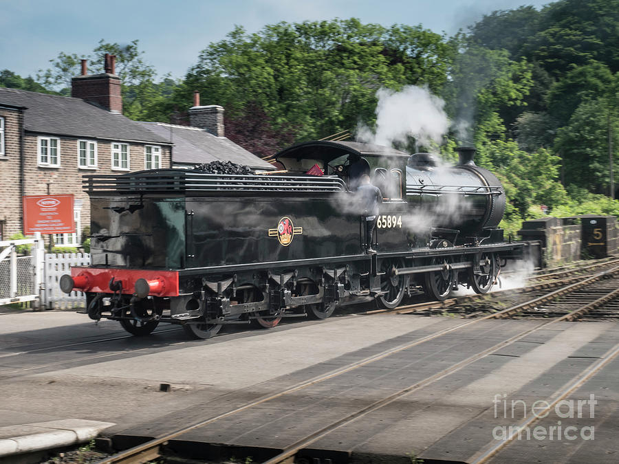 J27 Locomotive 65894 On North York Moors Railway Photograph by Simon ...