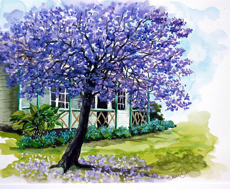 Jacaranda  Painting by Karin  Dawn Kelshall- Best