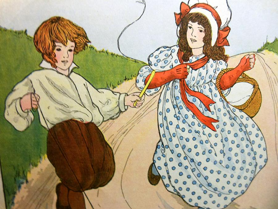 Milk Maid Drawing - Tom Little And Margaret by Lord Frederick Lyle Morris - Disabled Veteran