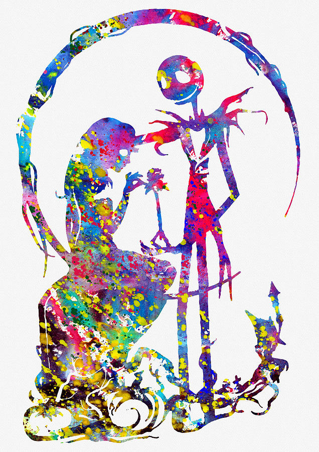 Jack And Sally-colorful Digital Art by Erzebet S