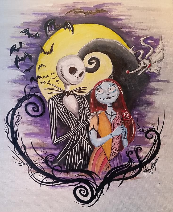 Jack And Sally Painting by Ryan Alsup