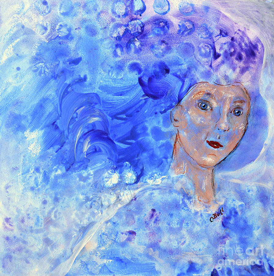 Woman Painting - Jack Frosts Girl by Claire Bull