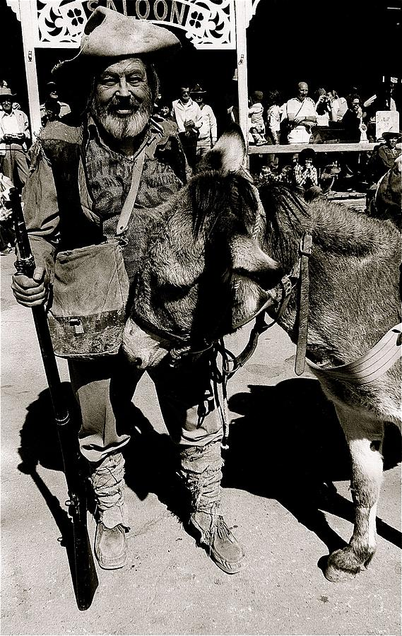Jack Hendrickson With Pet Burro  Number 1 Helldorado Days Parade Tombstone Arizona 1980 Photograph by David Lee Guss