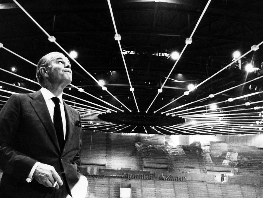 1960s Photograph - Jack Kent Cooke In The Forum Sports by Everett