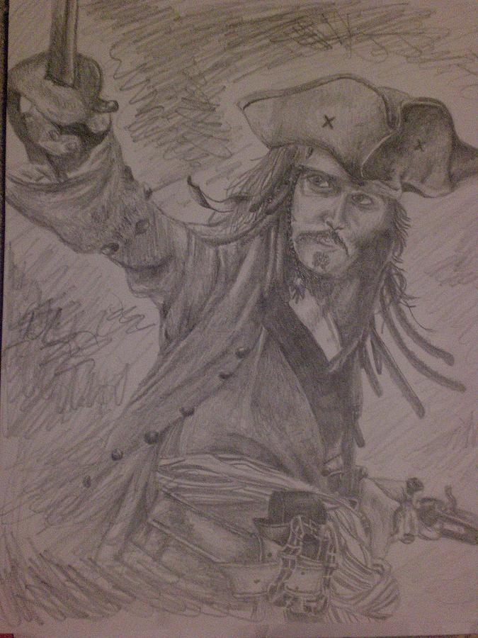 Jack Sparrow Drawing - Jack by Lisa Leeman