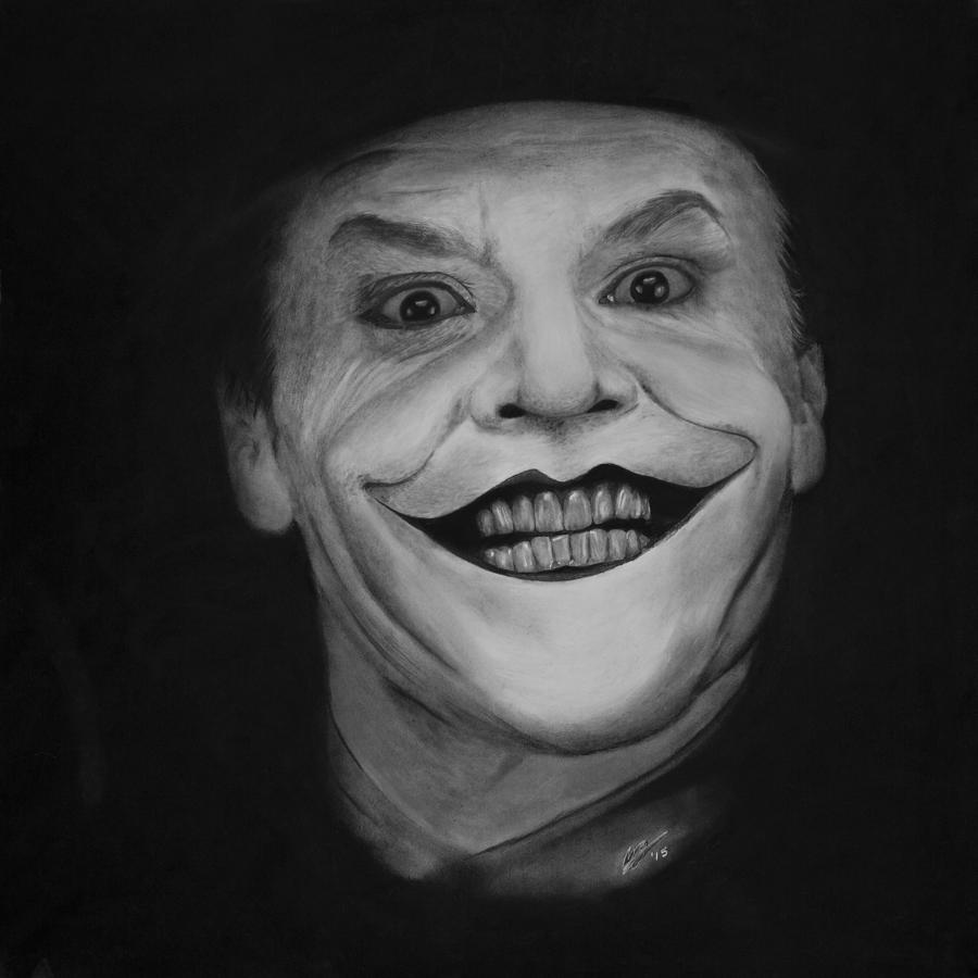 Jack Nicholson As The Joker Drawing By Robert Bateman
