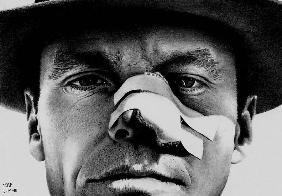 Jack Nicholson Drawing - Jack Nicholson In Chinatown by Rick Fortson