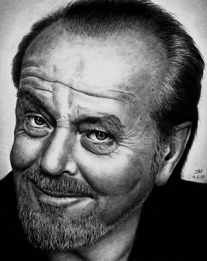 Jack Nicholson Drawing - Jack Nicholson by Rick Fortson