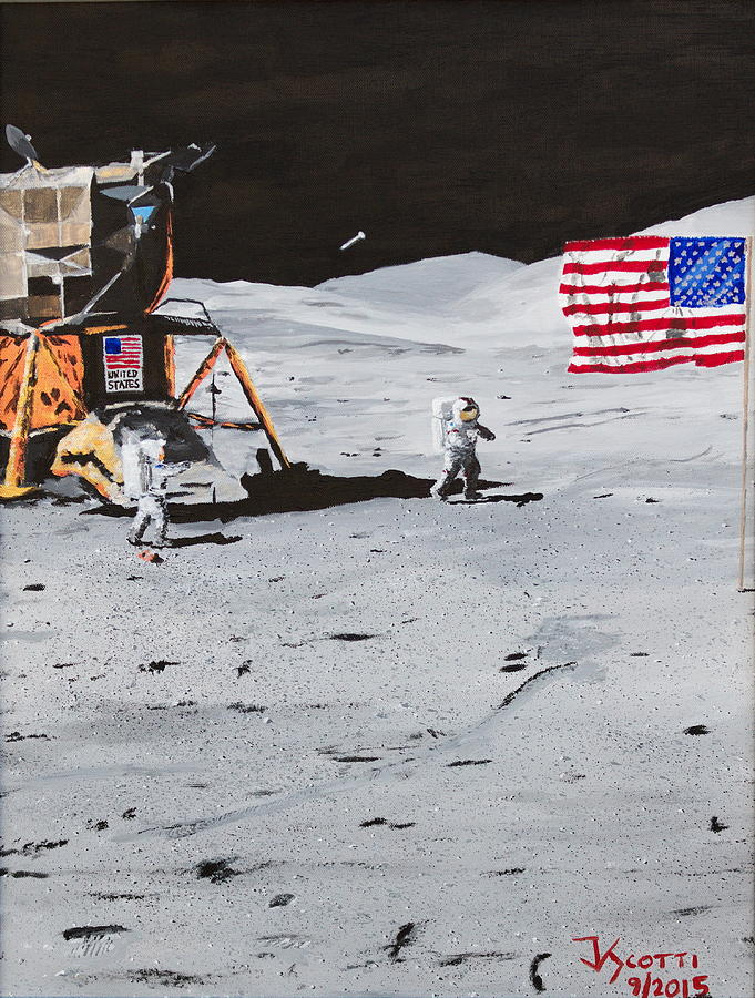 Apollo Painting - Jack Schmitts Hammer #1 by James Scotti