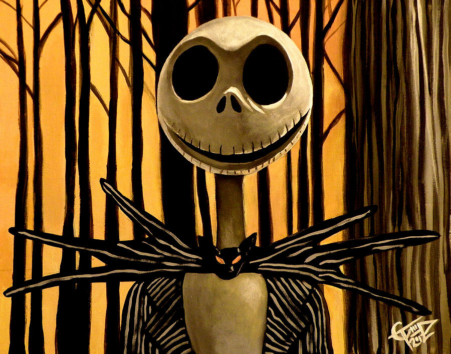 Nightmare Before Christmas Painting - Jack Skelington by Tom Carlton