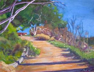 Plein Air Painting - Jack Smith Trail by Richard  Willson