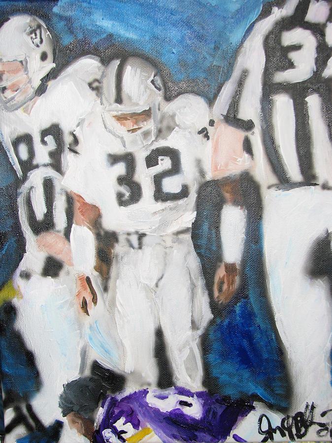 Sports Painting - Jack Tatum Fallen Prey  by Jon Baldwin  Art
