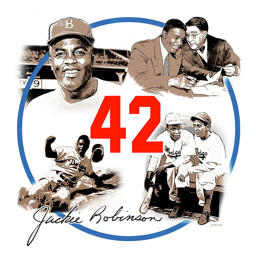 Jackie Robinson Digital Art - Jackie 42 by Greg Joens
