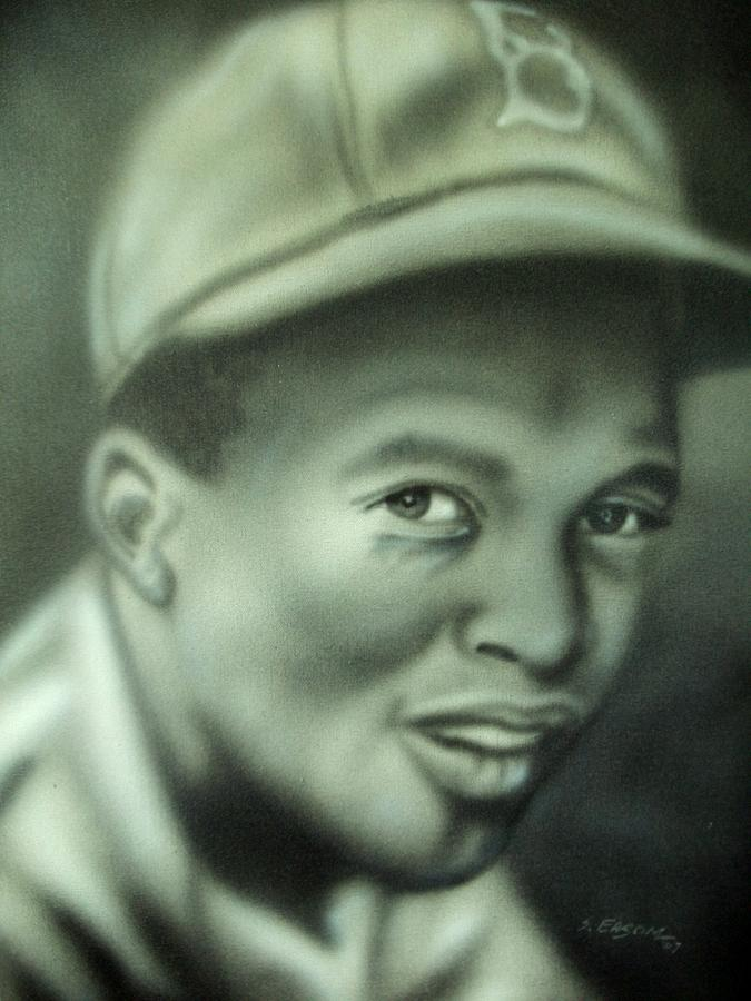 Famous Painting - Jackie Robinson by Scott Easom
