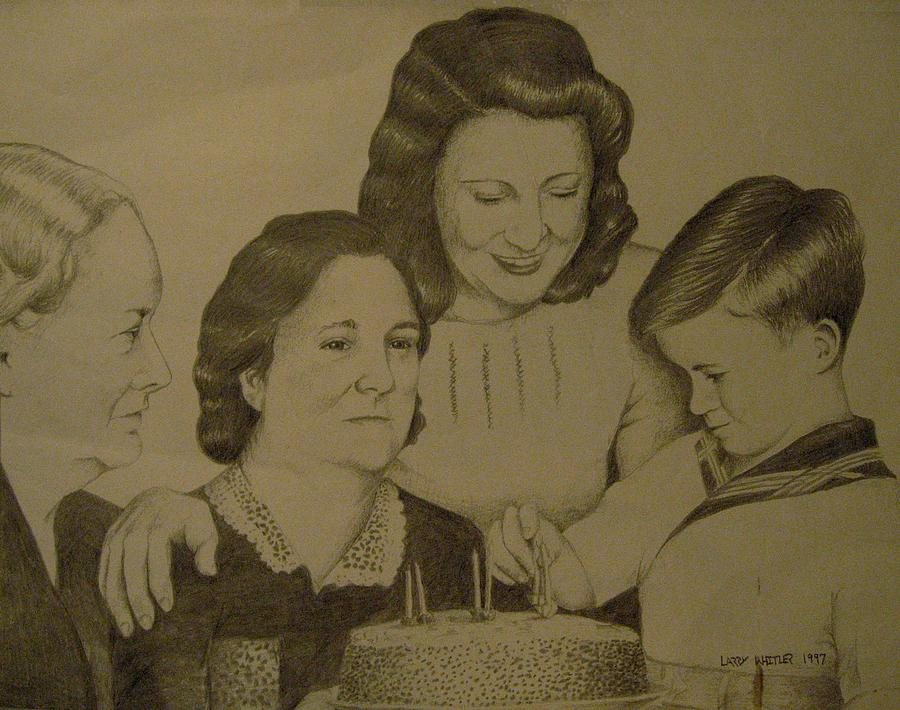 1940s Drawing - Jacks Birthday by Larry Whitler
