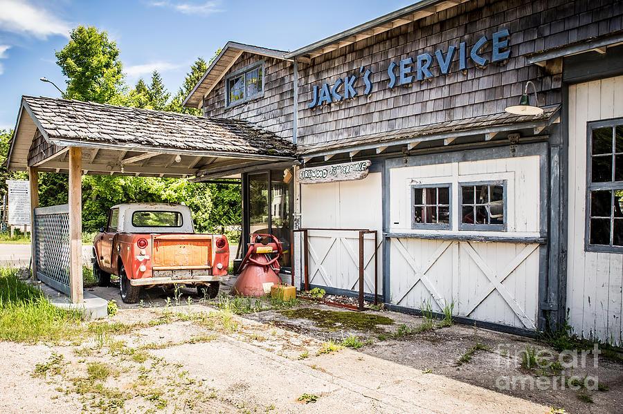 Jacks Service Station Photograph