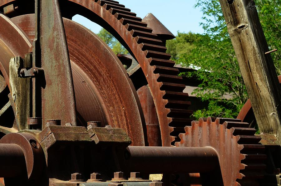 Rust Photograph - Jackson Gears 2 by Nancy Manning