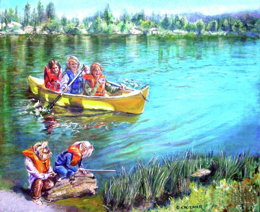 Landscape Painting - Jackson Lake by Olga Kaczmar