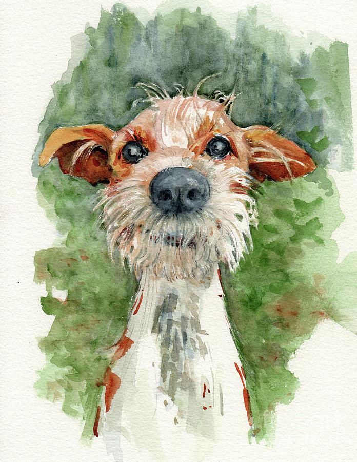 Dog Painting - Jackson by Lora Serra