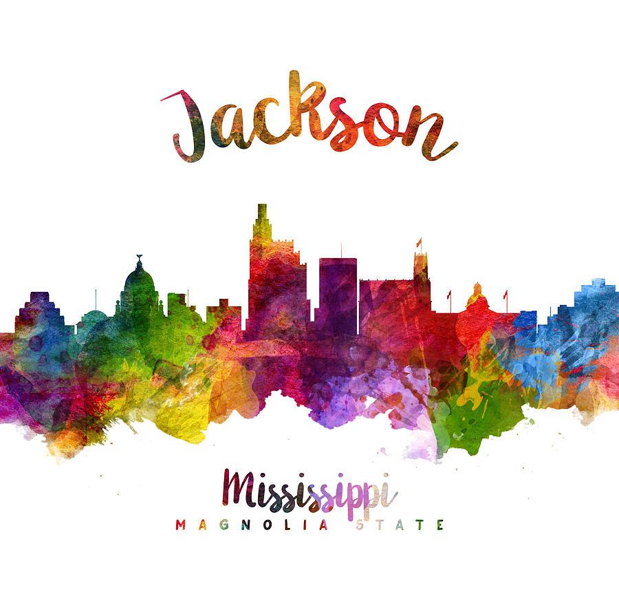 Jackson Mississippi Skyline 23 Painting