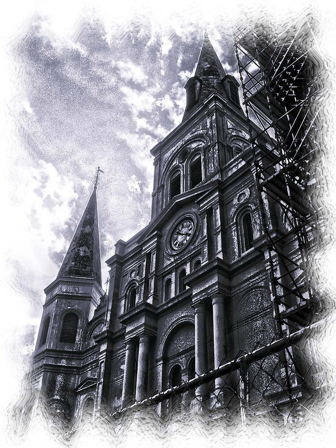 New Orleans Photograph - Jackson Square Cathedral by Linda Kish
