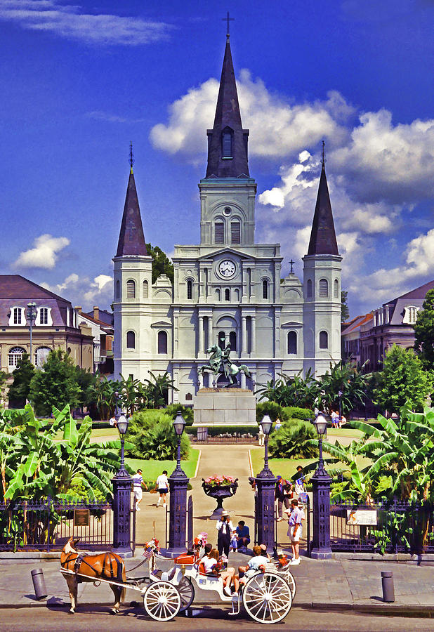 United States Of America Photograph - Jackson Square by Dennis Cox