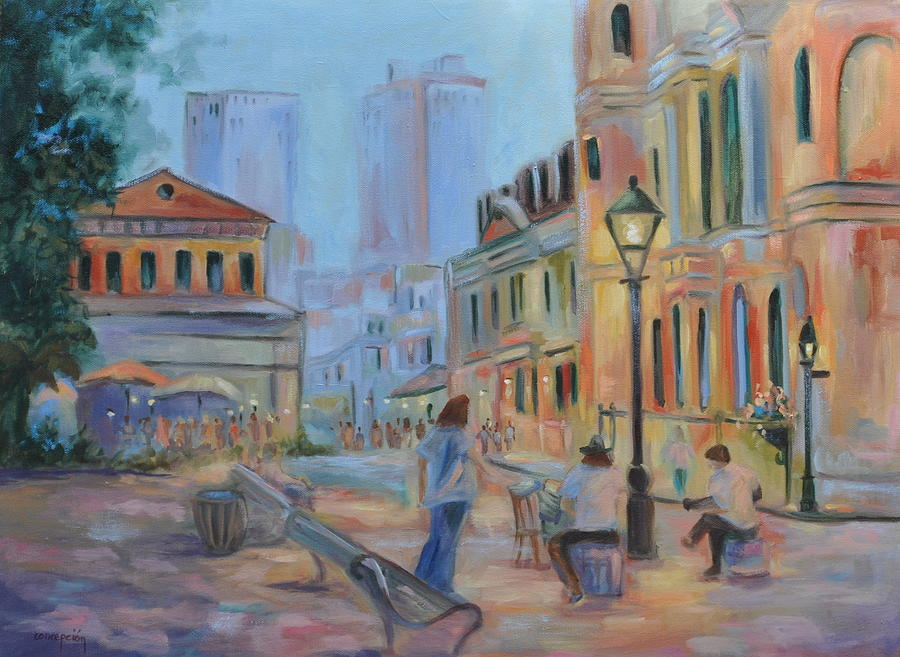 New Orleans Painting - Jackson Square Musicians by Ginger Concepcion