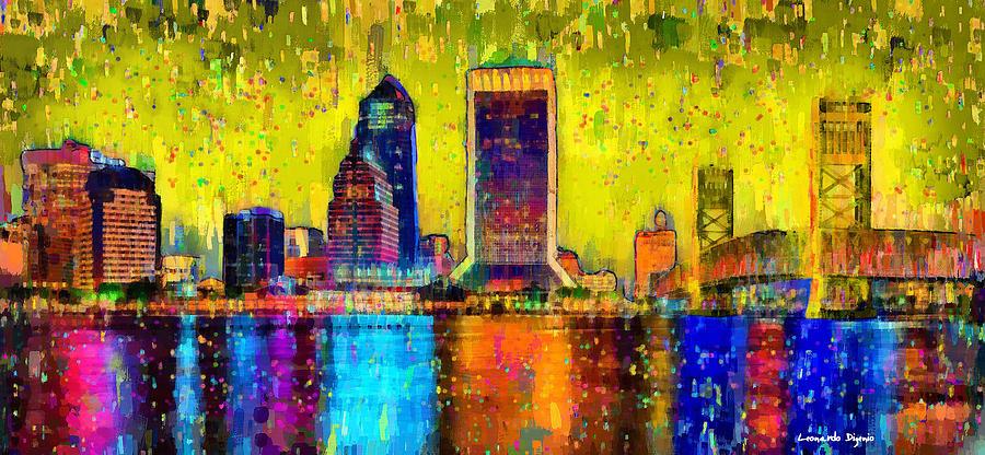 Jacksonville Skyline 101 - Pa Painting