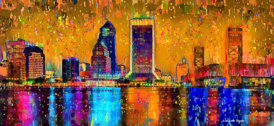 Jacksonville Skyline 104 - Pa Painting