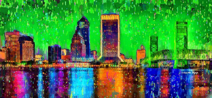 Jacksonville Skyline 106 - Pa Painting