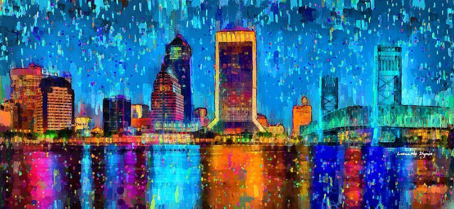Jacksonville Skyline 107 - Pa Painting
