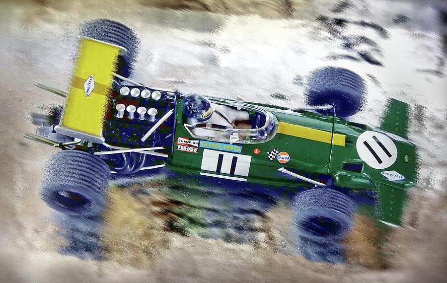 Brabham Digital Art - Jacky Ickx - Brabham Bt26 by Jean-Louis Glineur alias DeVerviers
