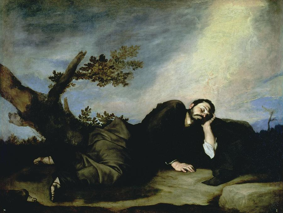 Jacob's Dream Painting - Jacobs Dream by Jusepe de Ribera