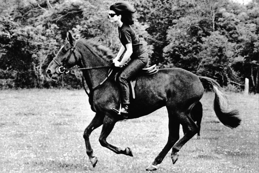History Photograph - Jacqueline Kennedy, Riding A Horse by Everett