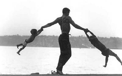 Father Photograph - Jacques D Amboise And Sons by John Dominis